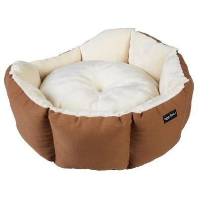 Amazon Basics Round Bolster Dog or Cat Bed