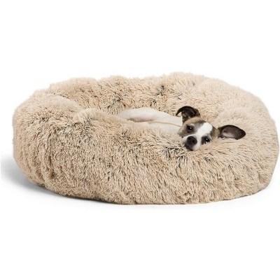 donut bed dog