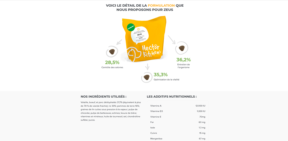 hector kitchen promotions croquettes chien
