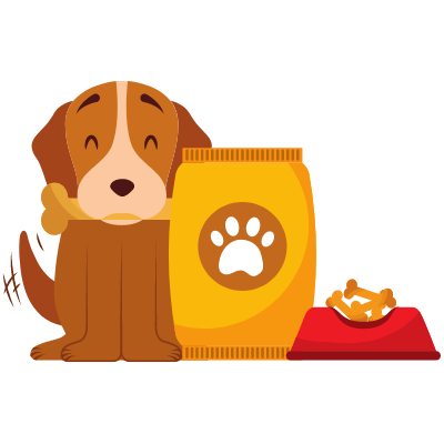 dog food drawing