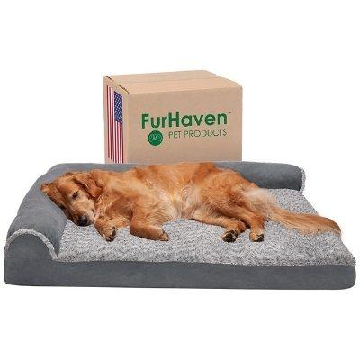 furhaven dog bed suede